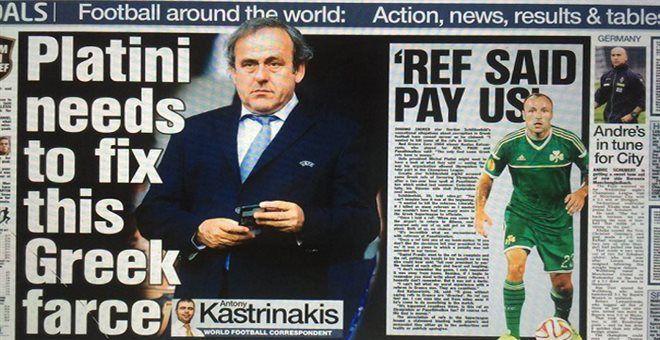Sun: Ο Ολυμπιακός μπορεί να κοστίσει στον Πλατινί τις εκλογές της FIFA — ΣΚΑΪ (www.skai.gr)