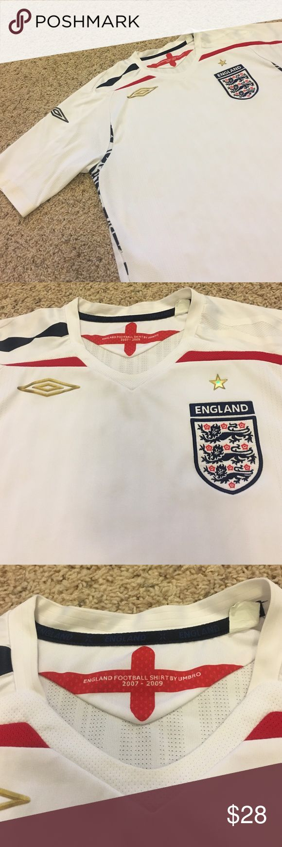 England Soccer Shirt by Umbro In great condition, bought when on a trip to Europe , great quality shirt Umbro Shirts Tees - Short Sleeve
