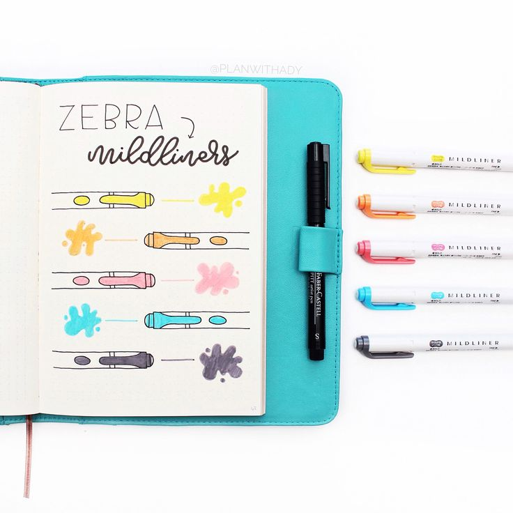 🇺🇸 Do you use highlighters in your #bulletjournal? I just received some #zebramildliners and I love them! New pens means new swatch page 😁 They're double ended highlighters featuring a broad tip and a fine tip. They don't bleed through (unless you go back over the same spot several times) and the colors are beautiful! ▫️▫️▫️▫️▫️▫️▫️▫️ 🇫🇷 Utilisez-vous des surligneurs dans votre #bulletjournalfr? Lesquels? Je viens de recevoir des Zebra Mildliners que j'adore! Et nouveaux feutres…