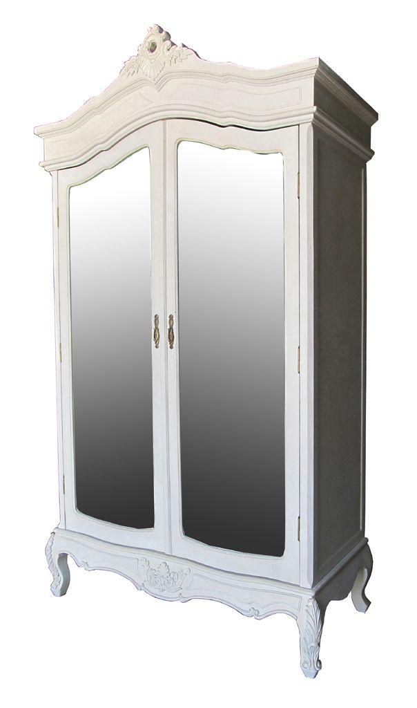 Superb #mirrored wooden #wardrobe in beige color. www.inart.com