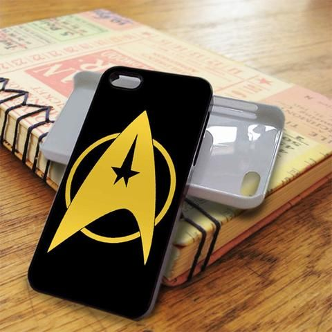 Yellow Black Star Trek Logo iPhone 5C Case