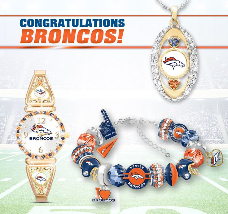 Let your pride for the Super Bowl 50 Champions sparkle! Honor the Denver Broncos with our officially-licensed NFL jewelry.