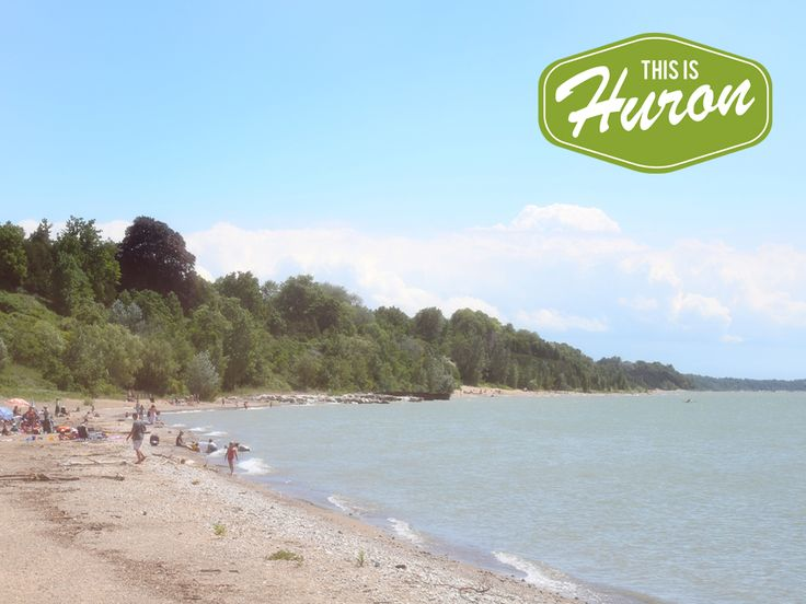 Bayfield's Main Beach on a hot summer's day