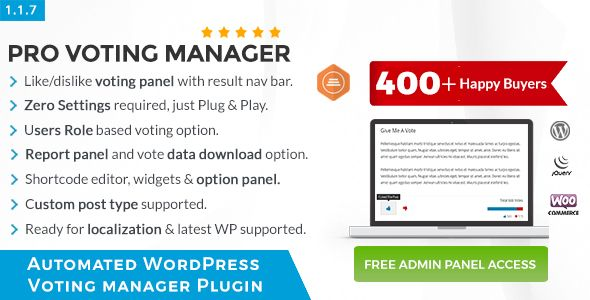 BWL Pro Voting Manager | Best Premium WordPress Plugins - 2019