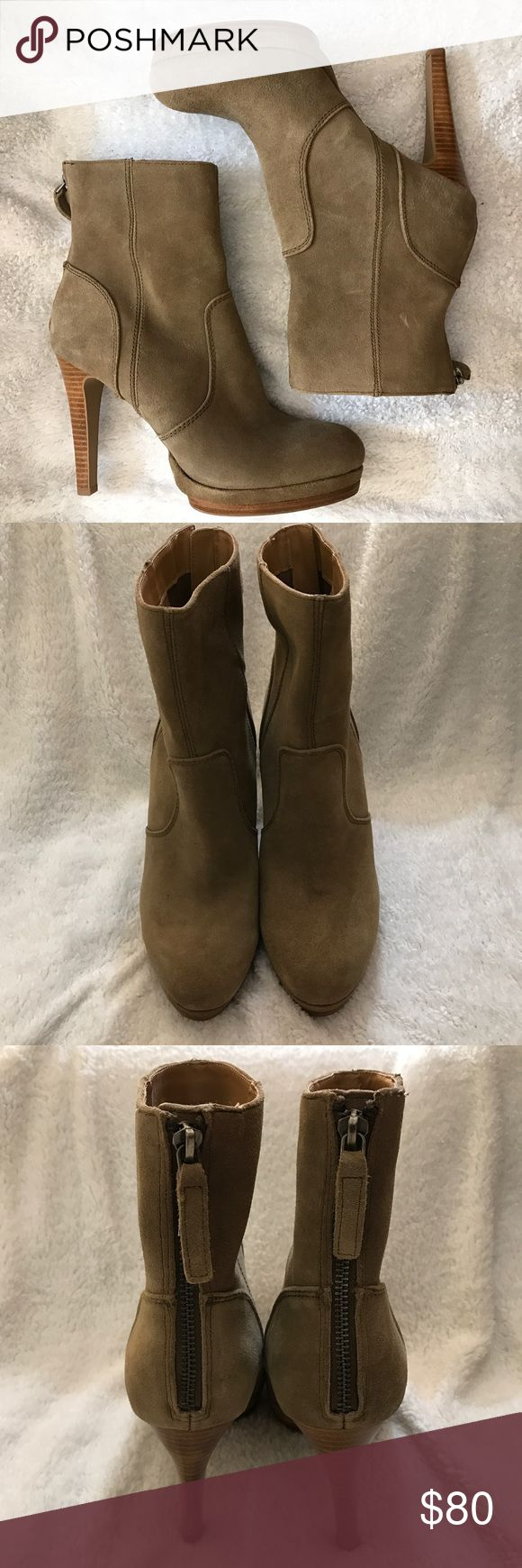🆕 Nine West Women's Aldren Suede Boot 9M 🆕 Nine West Women's Aldren Camel Suede Back Zip Platform Heel Boots. NWOT, never worn.  Size: 9M Color: Camel / Tan Heel: Approx 4.25 in Nine West Shoes Ankle Boots & Booties