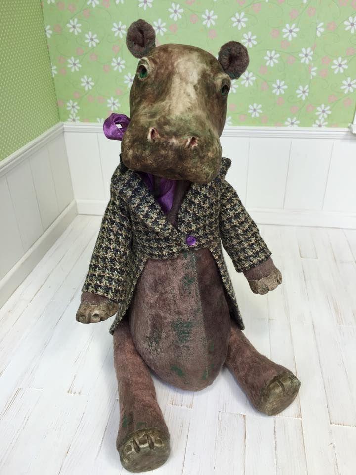350$ + shipping, Hippo Berlios made by Svetlana Krivenko, ooak art doll