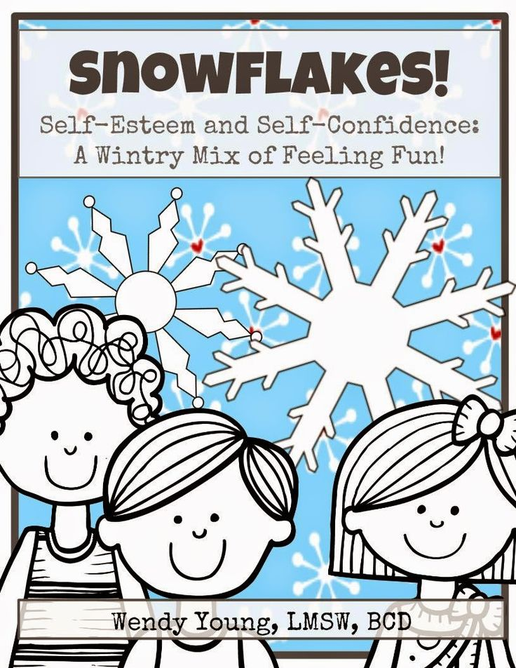 Snowflakes! Self-esteem and Self-confidence for Kids! Use all winter long! $