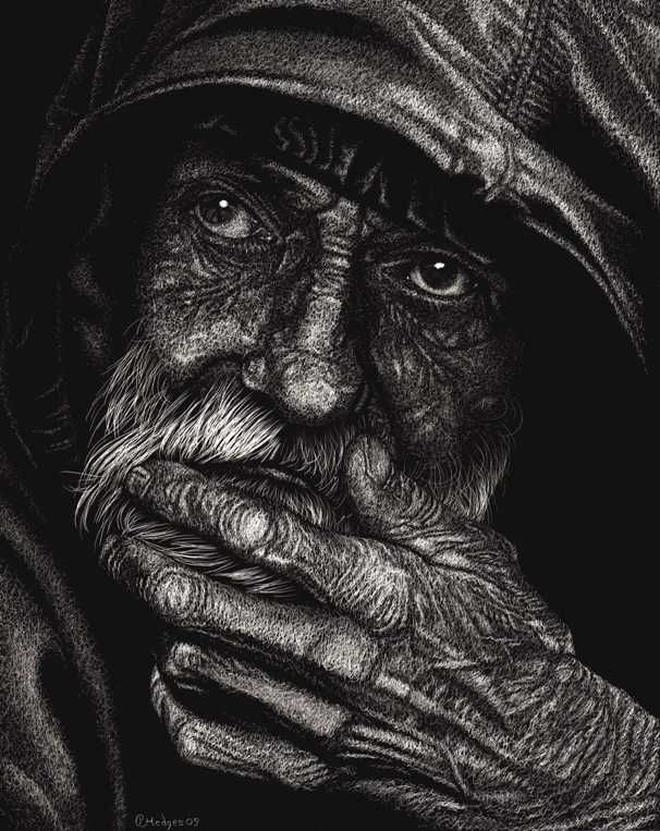 The scratchboard art below is a... - Page 2 - WetCanvas