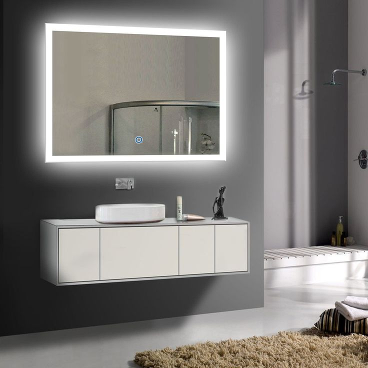Best 25 mirror with led lights ideas on pinterest makeup decoraport 36 inch 28 inch horizontal led wall mounted lighted vanity bathroom silvered mirror with mozeypictures Gallery