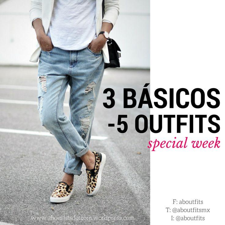 3 prendas básicas, 5 outfits distintos   aboutfits   Fashion & Style Blog   trendy, ootd, estilo, mujer, moda