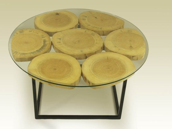 Organic eco design round wooden coffee table of by FreeTreeStudio   see more at https://www.etsy.com/shop/FreeTreeStudio