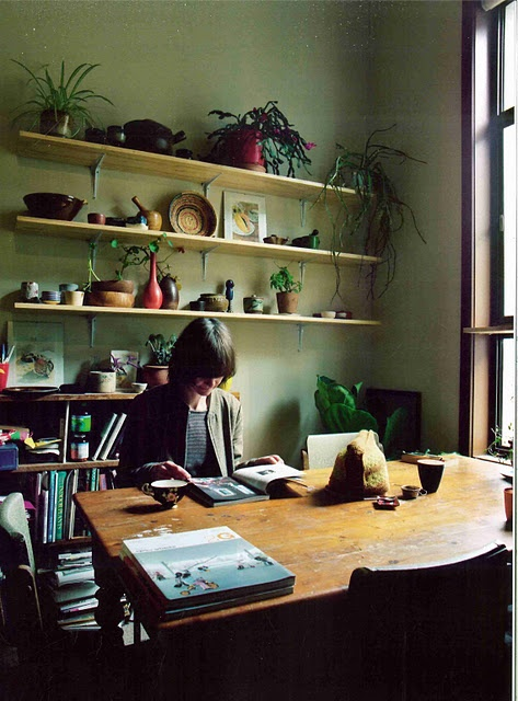 : Dreams Offices, Big Window, Crafts Rooms, Offices Spaces, Window Shelves, Work Spaces, Corner Offices, Study Rooms, Wall Shelves