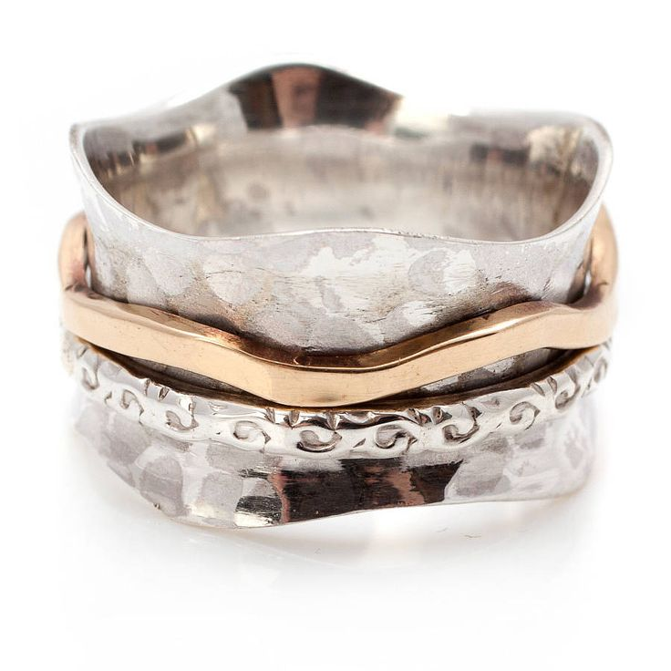 Bronze And Silver Spinning Ring from notonthehighstreet.com