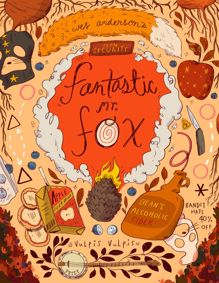 Fantastic Mr Fox! For an ongoing Wes Anderson series with Geeksboro, local movie theater and coffee shop in Greensboro, NC.