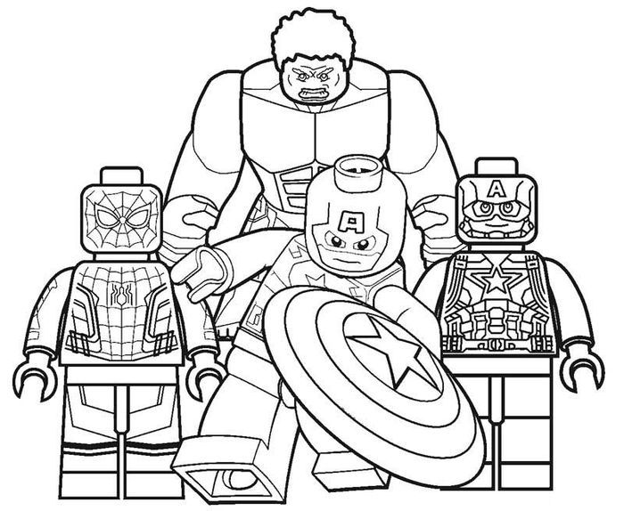 Lego Coloring Pages In 2020 Superhero Coloring Avengers