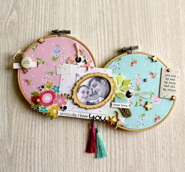 Grani di pepe: Embroidery hoops - Layout home decor