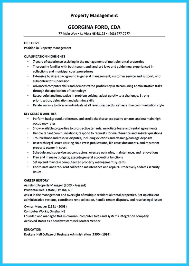 apartment maintenance manager resume If you want to propose a job - real estate manager resume