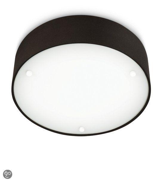 bol.com | Philips Myliving Velour Plafonniere - 2-Lichts - Zwart | Wonen