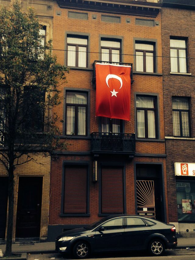 Turkish flag in Brussels