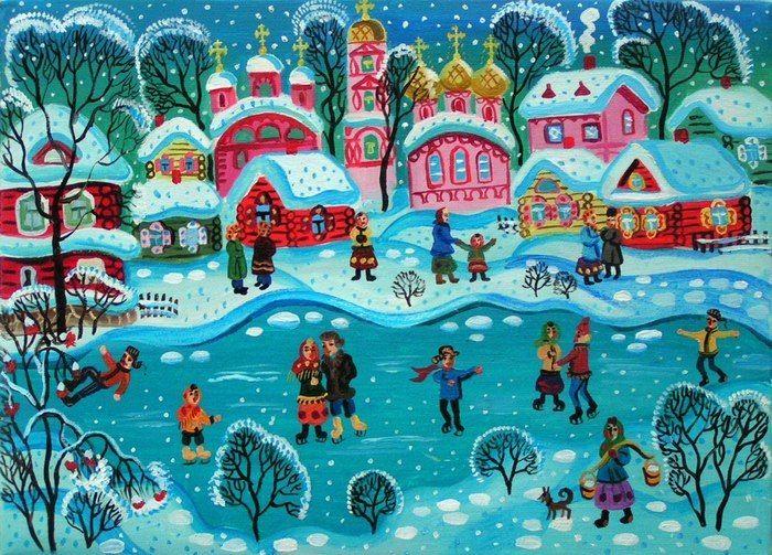 Рождественские лубочные картинки