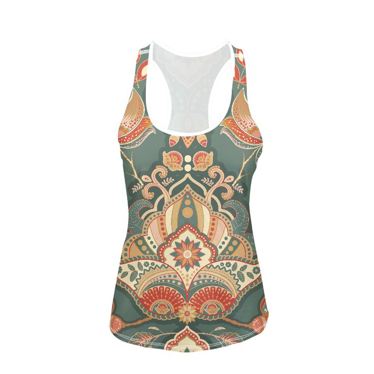 Design vest with mandala ethno