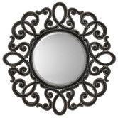 Found it at Wayfair - Round Silver / Black Traditional Wall Mirror