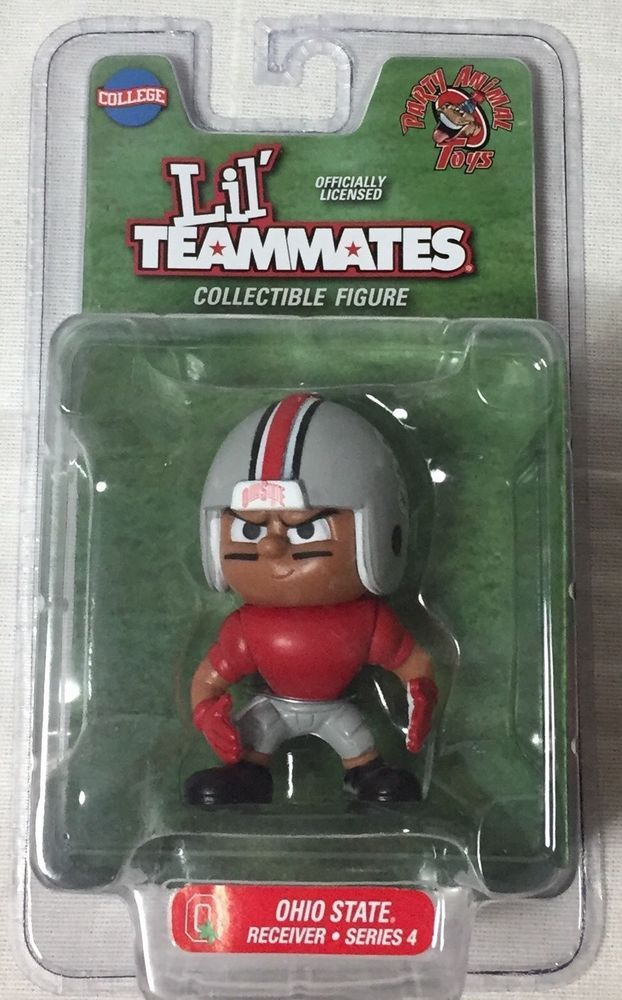 New Ohio State Buckeyes Lil Teammate Receiver Series 4 Collectible Action Figure #PartyAnimal #OhioStateBuckeyes