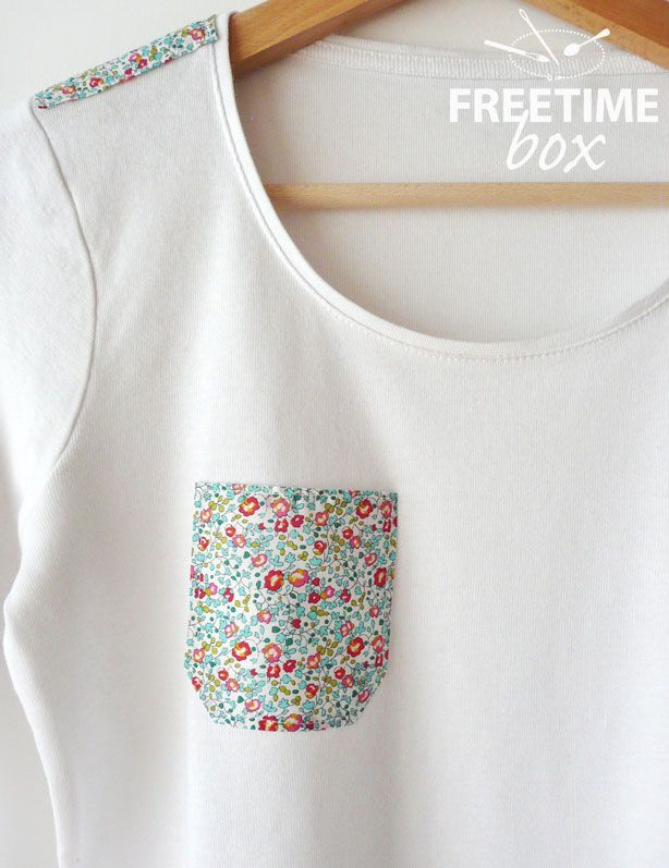 Tuto DIY : customiser un simple tee shirt avec du liberty