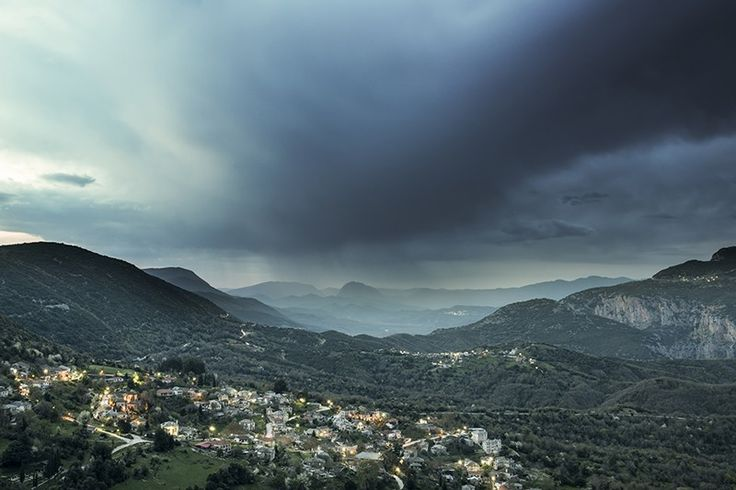 A storm creeps in over Aristi  in the Pindus Mountains, Greece - Greece mainland Workshop - Ollie Taylor Photography