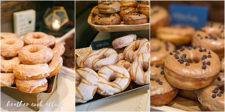 Doughnut bar! Legends Golf Club Wedding . Madison Wedding. Photo by HeatherCookElliott.com Sunflower fields wedding.