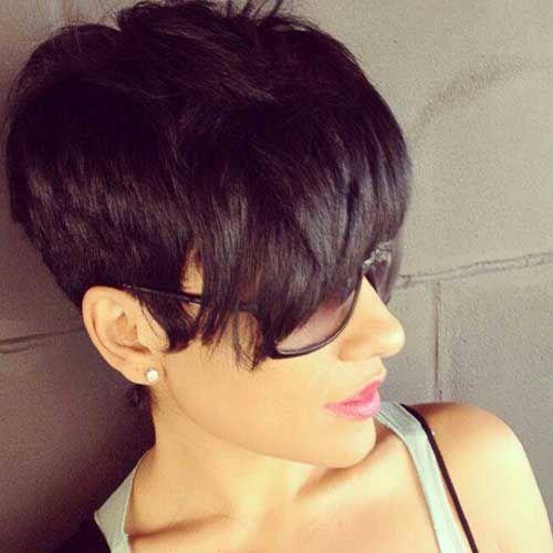 Stupendous 1000 Ideas About Short Dark Hairstyles On Pinterest Hairstyles Short Hairstyles For Black Women Fulllsitofus