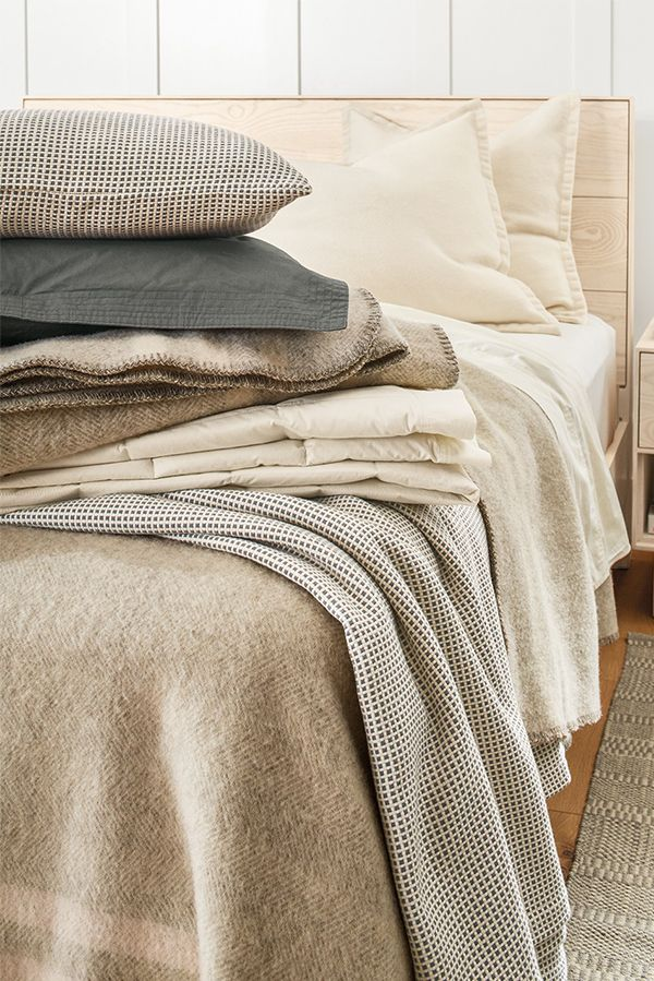 Add texture to your bedroom with our bedding basics.