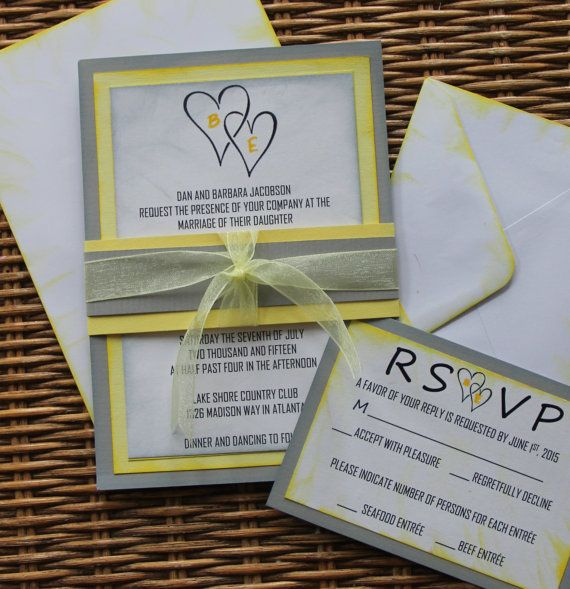 Top 25 Ideas About Handmade Wedding Invitations On Pinterest