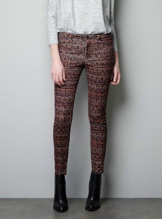 Pantalon ZARA aztèque/ navajos ! Taille M #Autrespantalons
