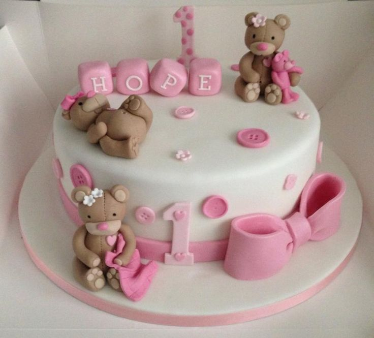 Best Candybar Images On Pinterest Biscuits Events And Baby Cakes - 1st birthday cake girl