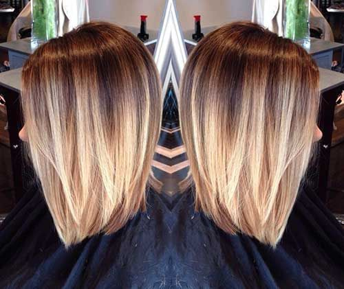 Hair with Blonde Ombre Style