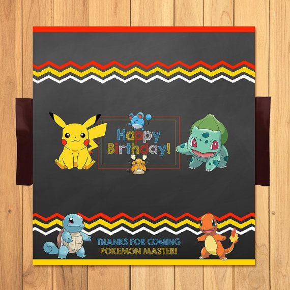 Pokemon Candy Wrapper Chalkboard by SometimesPie