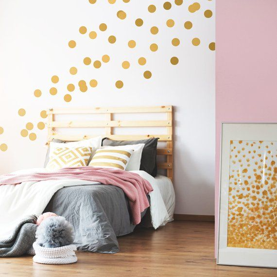 Gold Dot Wall Decals Metallic Gold Polka Dots Gold Wall