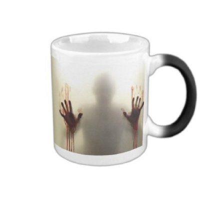 Zabrina The Walking Dead Coffee Tea Milk Hot Cold Heat Sensitive Color Changing Black and White Ceramic Mug