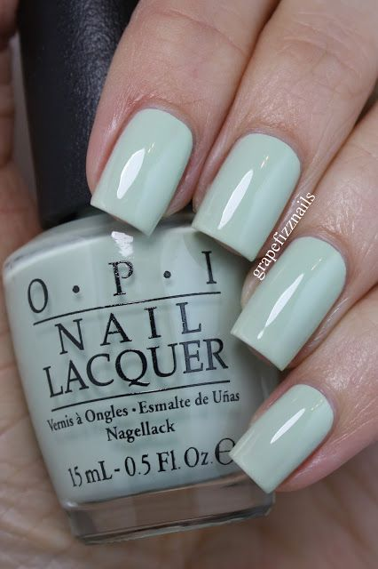 opi This Cost Me a Mint, a beautiful soft pastel green.