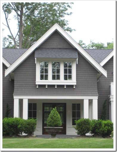 Love the charcoal with white trim.