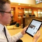 Work Is Easier and More Stylish With an iPad but watch your neck!