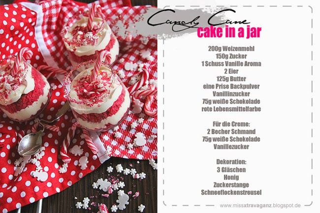Chamy // Beauty, Fashion, Travel & more: Rezept: Candy Cane Cakes in a jar