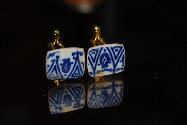 pieces of antique broken porcelain from MEISSEN
