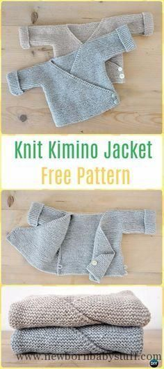 Baby Knitting Patterns Knit Baby Knit Kimono Jacket Free Pattern - Knit Baby Sweate...