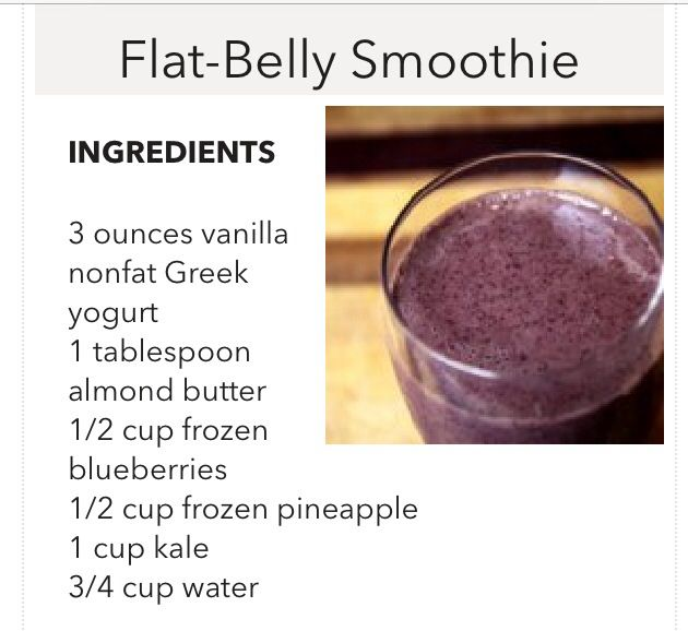 Flat belly smoothie 283 calories