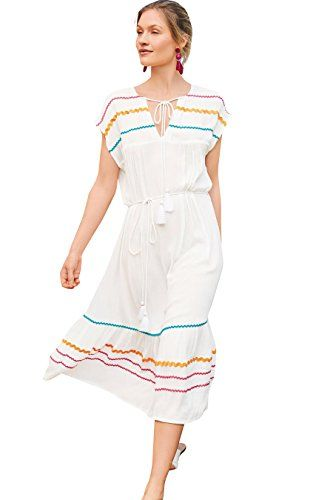3313e98eaf NFASHIONSO Women Bathing Suits Cover Up Ethnic Print Kaftan Beach Maxi Long  Dress This special cover up dress is in smart design for easy slip-on.
