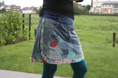 Recycle-Style-Jeansrock