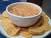 """30-Second Vegan Chili """"Cheese"""" Dip. Everyone at the Halloween party, including meat eaters, raved about it. Super easy to make."""