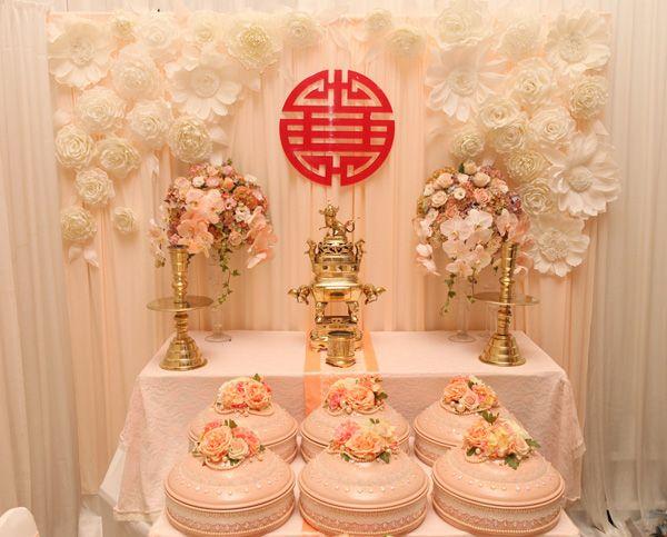 Trang trí bàn thờ gia tiên, mâm quả cưới, wedding planner